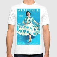 1958 Spring/Summer Spiegel Catalog White MEDIUM Mens Fitted Tee
