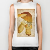 mortal instruments Biker Tanks featuring Mortal mushroom by Joe Ganech