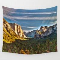 yosemite Wall Tapestries featuring Yosemite Mountains, Yosemite National Park, California by Kelly Moncure