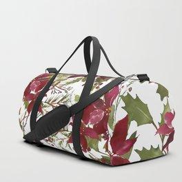 Poinsettia Flowers Duffle Bag