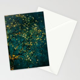 Abstract Night Tree Digital Art Stationery Cards