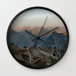 Sunset at North Cascades National Park Wall Clock