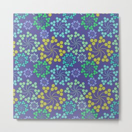 Fun Multicolored Whirligig Pattern Metal Print