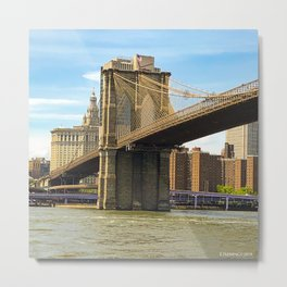 Brooklyn Bridge on a Sunny Day Metal Print