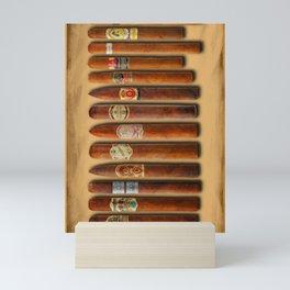 Cigar Sampler Painting Cigars Mini Art Print