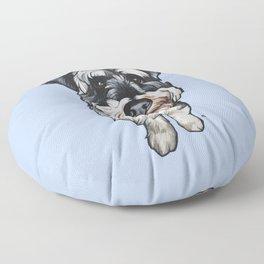 Barney the Miniature Schnauzer Floor Pillow