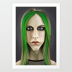 Celebrity Sunday ~ Avril Lavigne Art Print