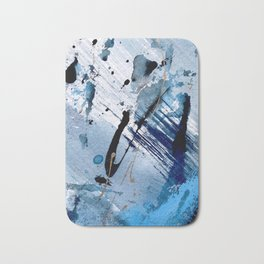 Breathe [2]: colorful abstract in black, blue, purple, gold and white Bath Mat