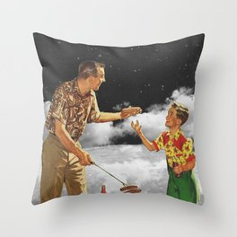 Family Barbecue Throw Pillow