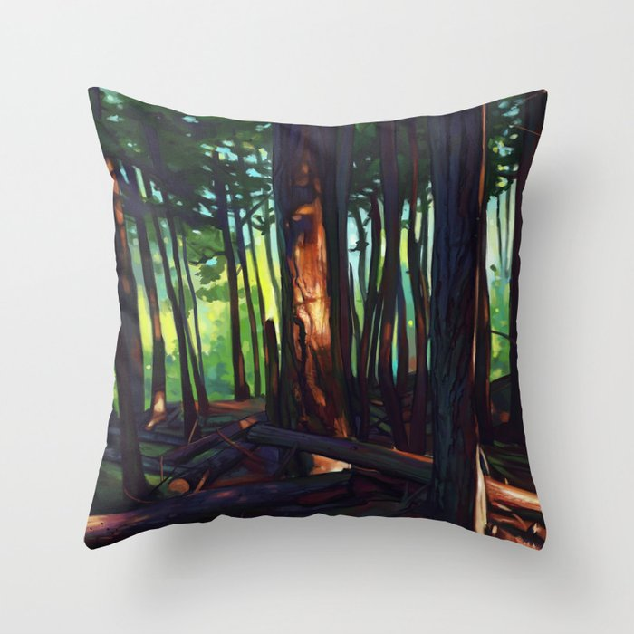 The Summer Lights of British Columbia Throw Pillow