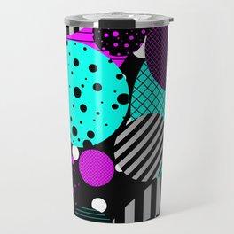 Circles, Bubbles And Stripes Travel Mug