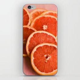 Grapefruit on Pink iPhone Skin
