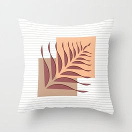Abstract Leaves and square art I Throw Pillow