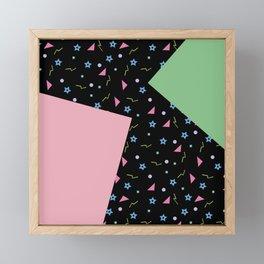 Memphis Style 90's Pattern Design Framed Mini Art Print