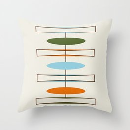 Mid-Century Modern Art 1.2 Throw Pillow