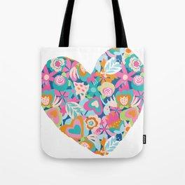 Feeling the love - heart shape Tote Bag