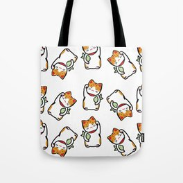 Lucky Cat Pattern Tote Bag