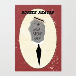 "Buster ""The Great Stone Face"" Keaton Canvas Print"