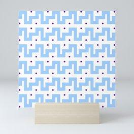 Mariniere funny and blue strip Mini Art Print