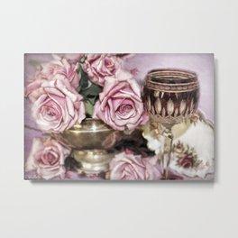 Wine And Roses Metal Print