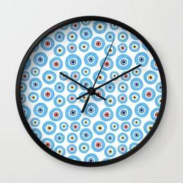 ''Evil eye'' pattern Wall Clock
