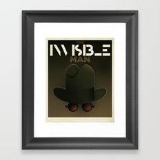 Cassandre Spirit - The invisible Man Framed Art Print