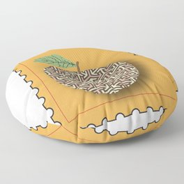 Patterned Apple Floor Pillow