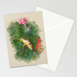 Hummingbird Watercolor Painting Stationery Cards