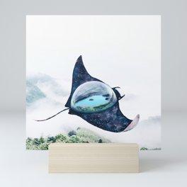 Space Manta Ray Mini Art Print