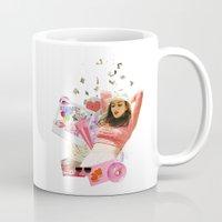 charli xcx Mugs featuring Charli XCX by Kat Heroine