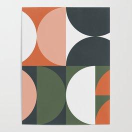 Mid Century Geometric 15 Poster