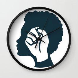 Strong Black Woman Wall Clock
