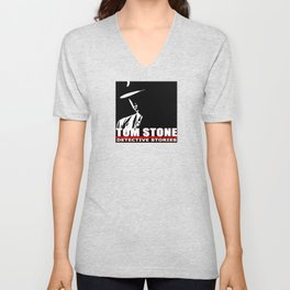 Tom Stone Detective Stories Unisex V-Neck