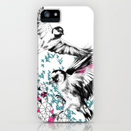 One Fell Swoop, Teal & Pink iPhone Case