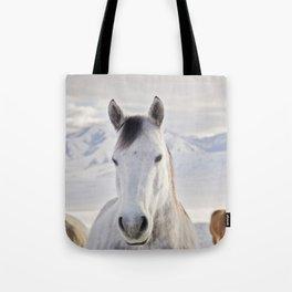 Rustic Winter Horse Tote Bag