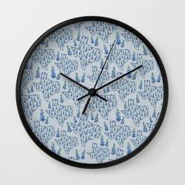 Texas Blue Bonnets Wall Clock