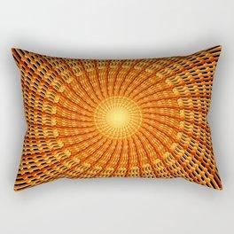 Amber Vortex Mandala Rectangular Pillow