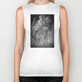 Black and White Ash Trees Biker Tank