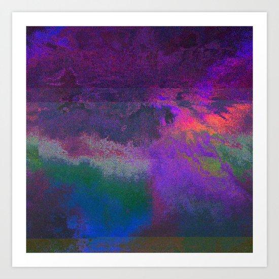 66-63-18 (Universe Rising Glitch) Art Print