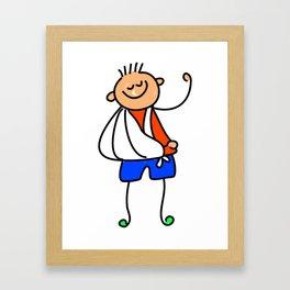 Accident Kid Framed Art Print