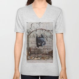 Caged bird Unisex V-Neck
