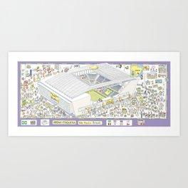 Itaquera Soccer Arena, Sao Paulo, Brazil Art Print