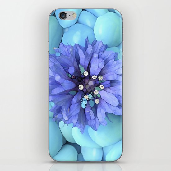 Eco-Abstract Blue iPhone & iPod Skin