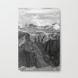 Tonto Trail - The Grand Canyon - B&W Metal Print