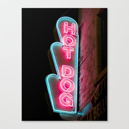 Hot Dog Canvas Print