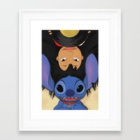 lilo and stitch Framed Art Prints featuring Lilo & Stitch by Ashleigh Jane
