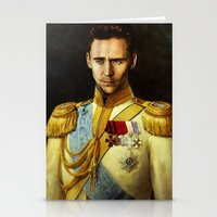 tom hiddleston Stationery Cards featuring Tom Hiddleston 001 by TheTreasure