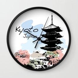 Kyoto Temple Japan Wall Clock