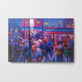 African American Masterpiece 'Casey and Mae in the Street' by Archibald Motley Metal Print