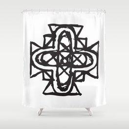 Key of Wisdom Shower Curtain
